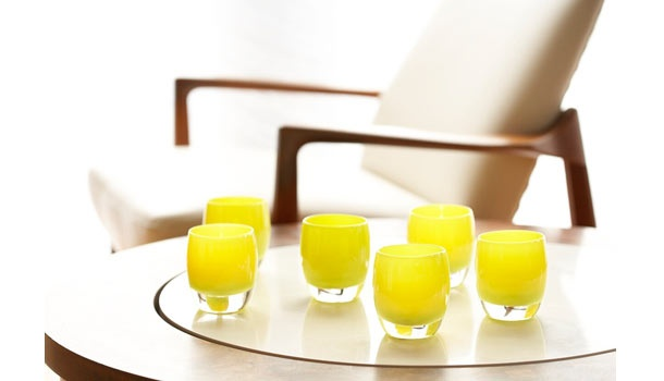 a splash of sunshine!    <3 glassybaby <3: Blown Glasses Art, Gorgeous Colors, Hands Blown Glasses, Glassybabi Obsession, Colors Avail, Handblown Glasses, Chartreuse Glassybabi, Beautiful, Glasses Candles