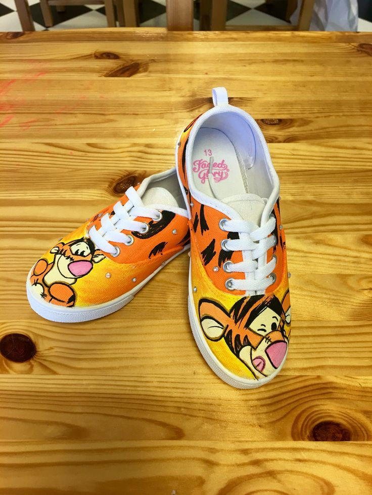 "Winnie the Pooh ""Tigger"" hand painted canvas shoes"