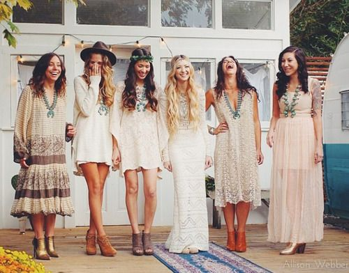 now this is a wedding party. boho wedding party. imogene + willie