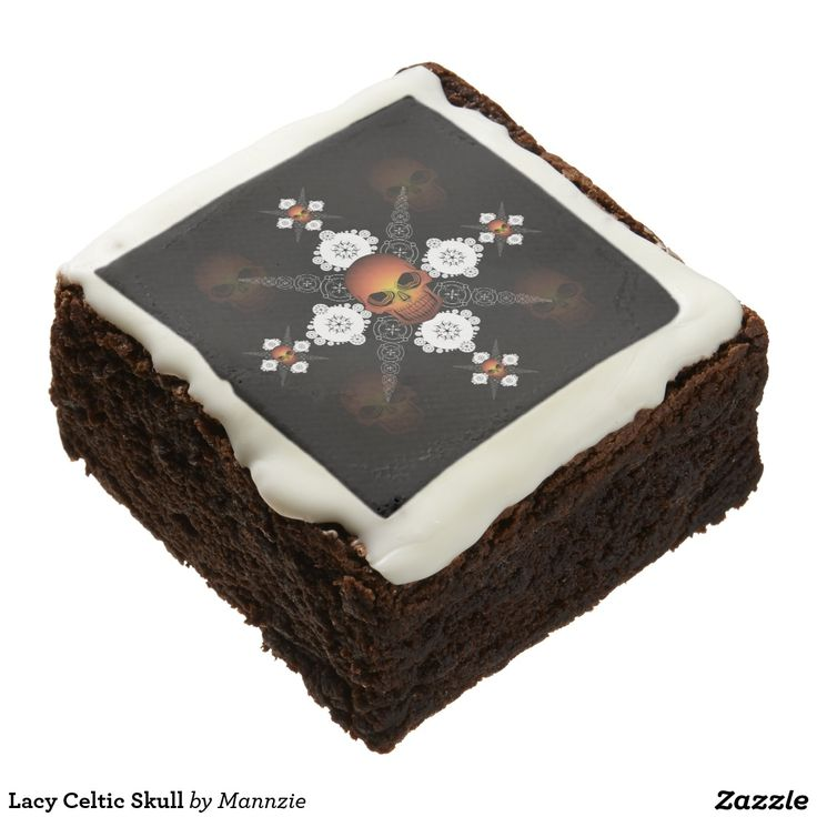 Lacy Celtic Skull Chocolate Brownie