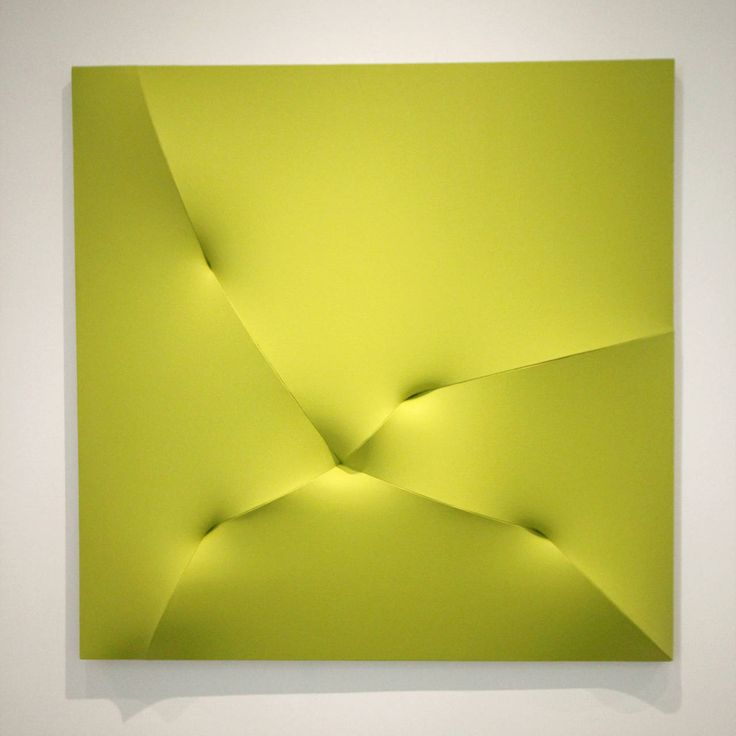 'Broken Yellow, 2014'  :  Jan Maarten Voskuil.  Acrylic paint, linen