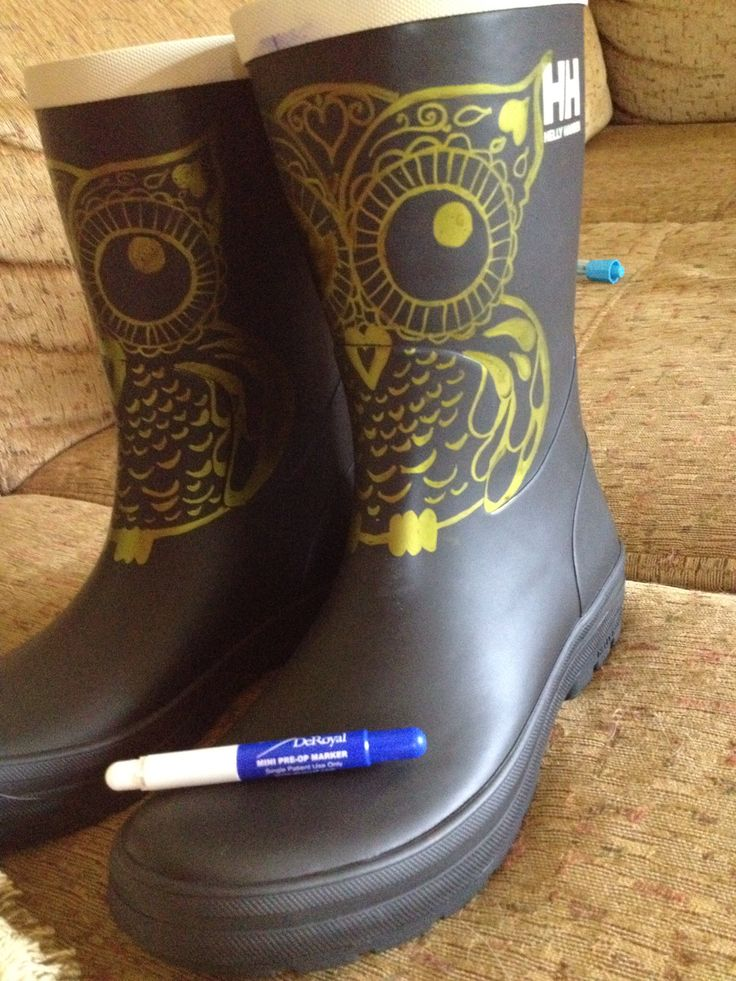 Upcycle boot... With purple pre-op medical pen. The purple ...