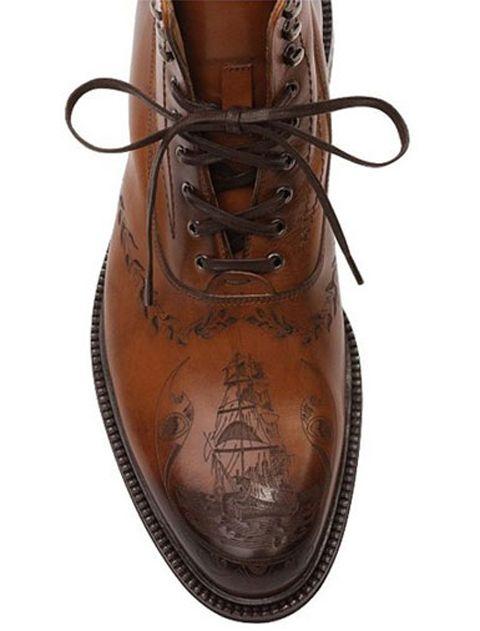 alexander mcqueen :: mens tattoo boots
