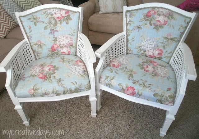 No-Sew Upholstered Chairs Project – My Favorite Kind