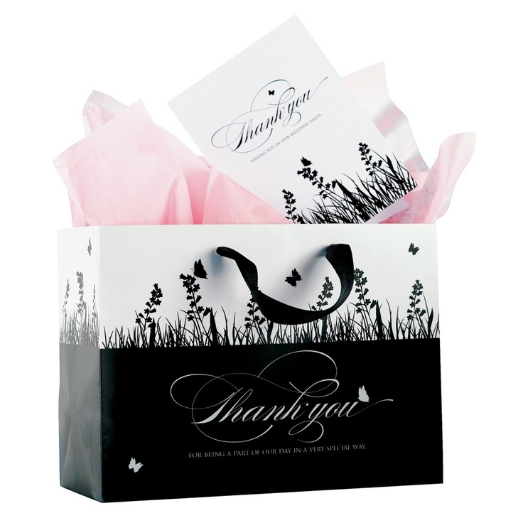 Wedding Gift Bags For Bridal Party : Black and White Wedding Party Gift Bag #exclusivelyweddings # ...