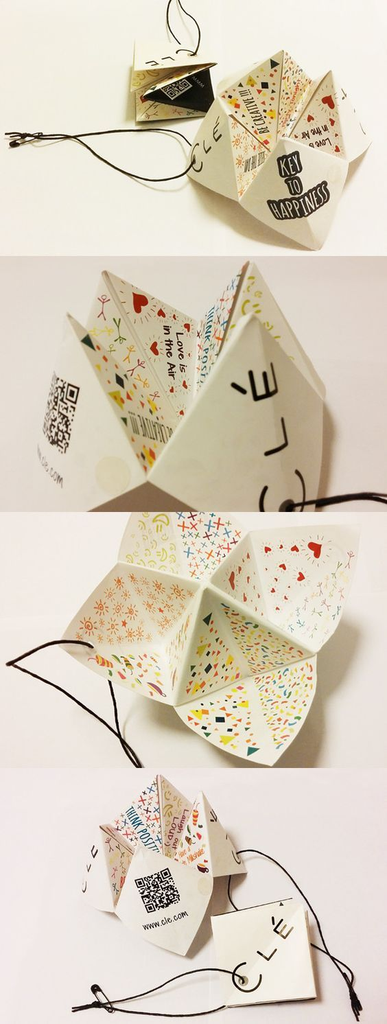 Making a hang tag as a toy or an extra gift is a creative and would grab my attention just like this idea did. So creative and useful at the same time. The buyer would be able to use your hang tag, but not as a hang tag, as something much more interesting and fun!