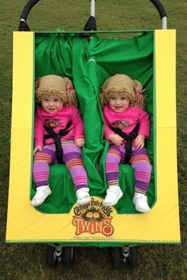 Cabbage Patch Kids twins - Great Halloween costume for babies!