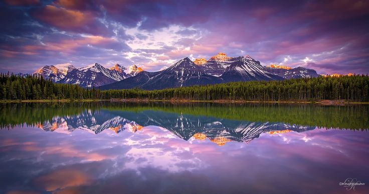 Herbert Lake, Alberta. Canada... by DK Photography on 500px