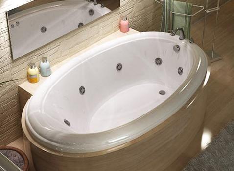Petite Drop In Bathtub From Atlantis With Stone Bathtub Mount