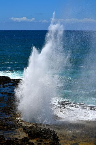 Spouting Horn Park, Kauai, Hawaii.  I've totally been here, it's pretty cool :)  ~SS
