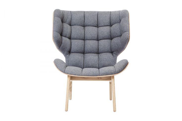 Mammoth Chair, Fluffy Wool, Stone Grey