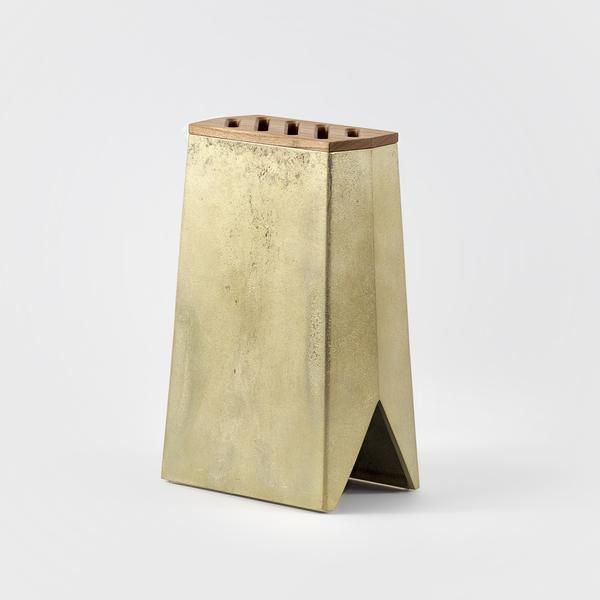 Brass knife holder by FUTAGAMI