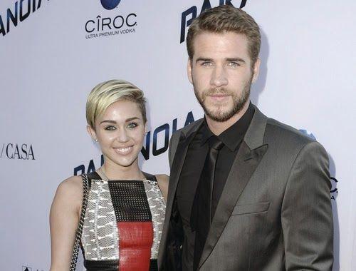 Miley Cyrus y Liam Hemsworth reaparecen juntos en la premiere de Paranoia ~ ActorsZone