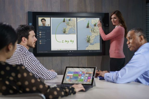 Forget the dinky little Surface tablets, the real prize is the awesome Surface Hub.