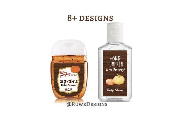 Fall Themed Customized Hand Sanitizer Labels For Party Wedding
