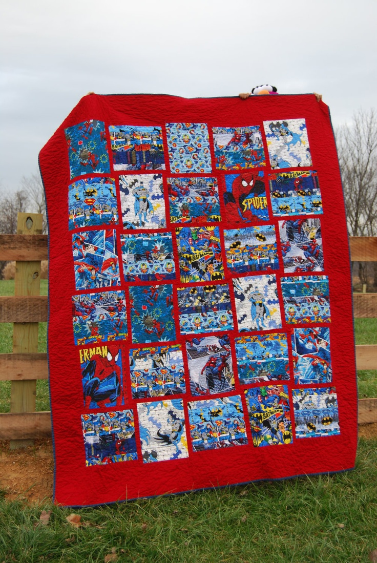 17 Best Images About Superhero Quilt Ideas On Pinterest