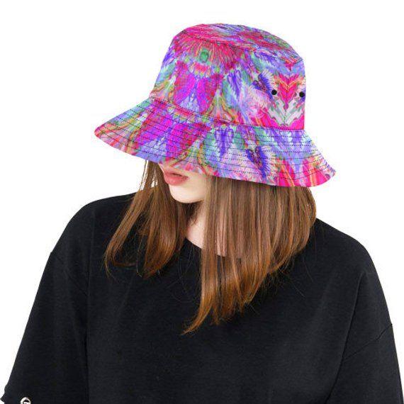 Bucket hat- women's hat-formal hat- hand painted original design- premium cotton- handmade to order-life colors 8 – women hat