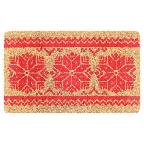 Smith & Hawken Fair Isle Sweater Print Coir Doormat