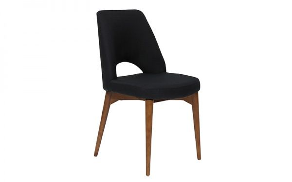 Jarvis. Dining Chair Charcoal W Blackwoo | OZ Design Furniture & Homewares