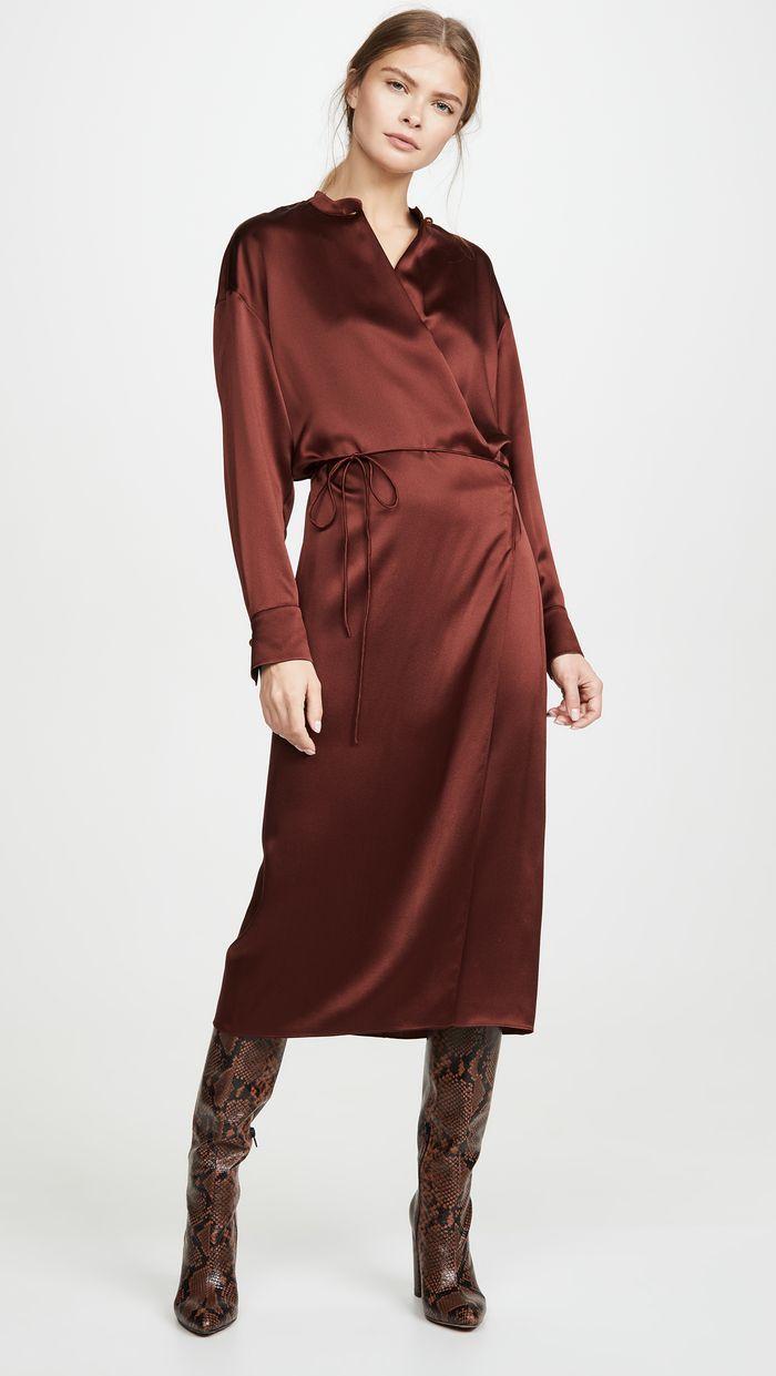 Vince Long Sleeve Wrap Dress Long Sleeve Wrap Dress Wrap Dress Dresses [ 1241 x 700 Pixel ]