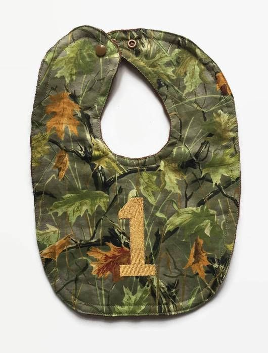 Camouflage Birthday Bib  First Birthday Bibs  Baby Boy Bib