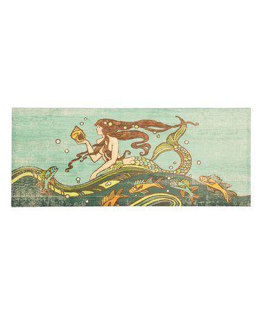 Look at this #zulilyfind! Rapunzel Mermaid Wrapped Canvas #zulilyfinds