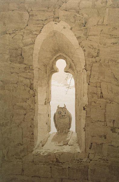Caspar David Friedrich: Owl in a Gothic Window, 1836