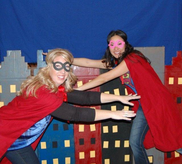 Super Hero photobooth background