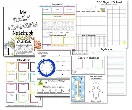 64 best Homeschool Daily Notebook Activities images on Pinterest - daily calendar