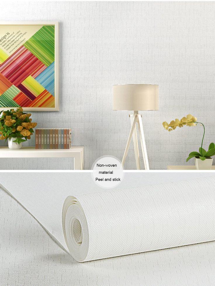 Modern Faux Linen Pattern Contact Paper Self