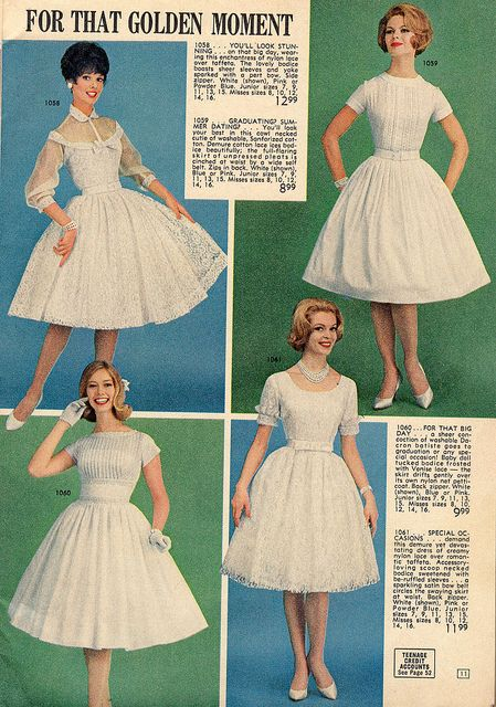 lana lobell   Lana Lobell 1962   Flickr - Photo Sharing! white dress vintage fashion style fit flare full skirt cocktail wedding picnic prom coming out dress lace sheer 50s 60s
