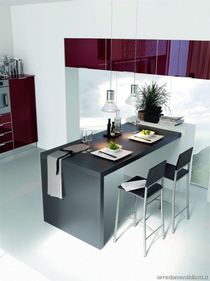 Cucina Brillant con anta in vetro a telaio - DIOTTI A&F Arredamenti