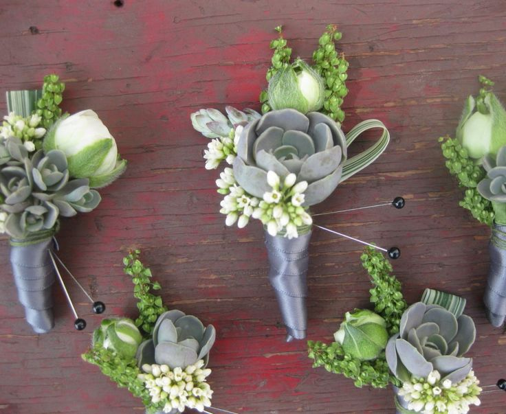 succulent wedding flower boutonniere, groom boutonniere, groom flowers, add pic…