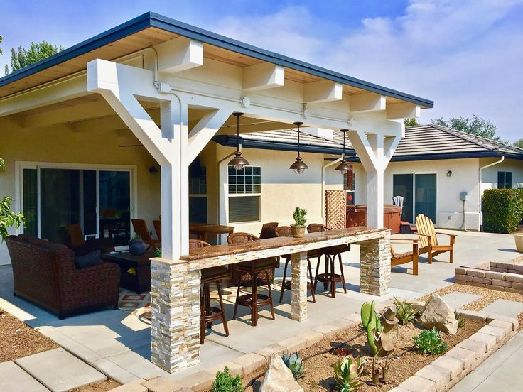 We started working with these great home owners 3 years ago. With the completion of this patio, we have now remodeled their entire house inside and out. Excluding the hot days the project was too much fun. We love our job and customers!   #Patio #PatioRemodel #StackedStone #StackedStoneColumn #GraniteBar #Granite #PatioMisters #TongueAndGroove #CustomLighting