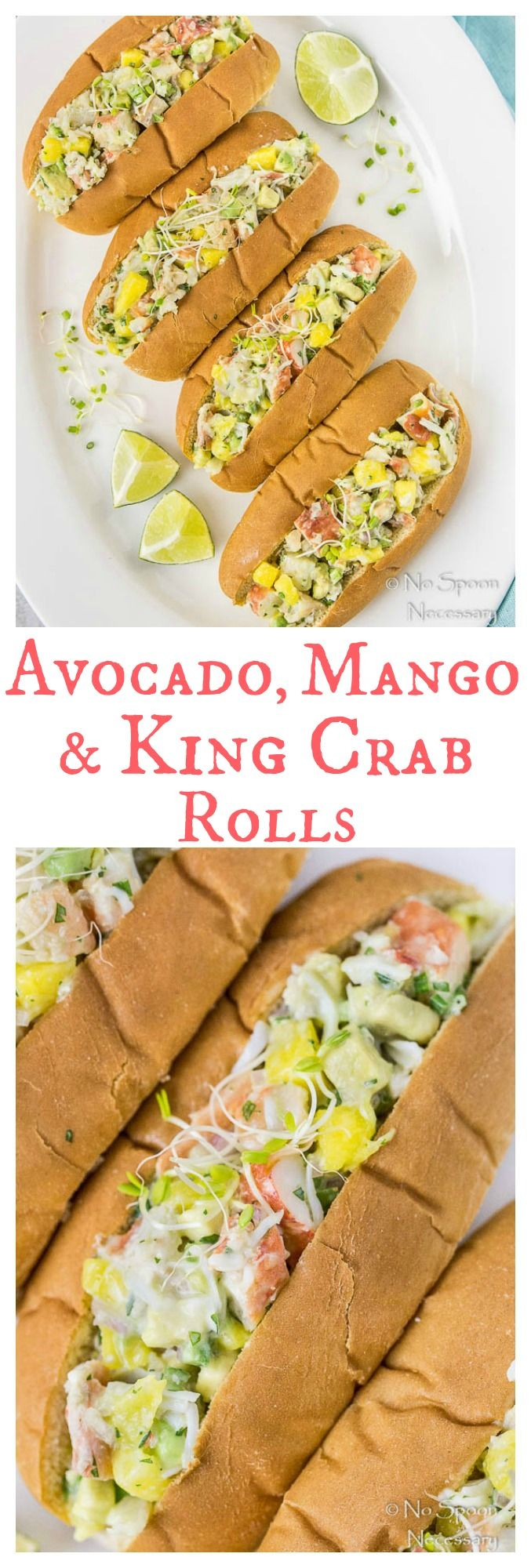 Avocado, Mango & King Crab Rolls - Ditch the hot dog and opt for these fresh and fabulous rolls instead!