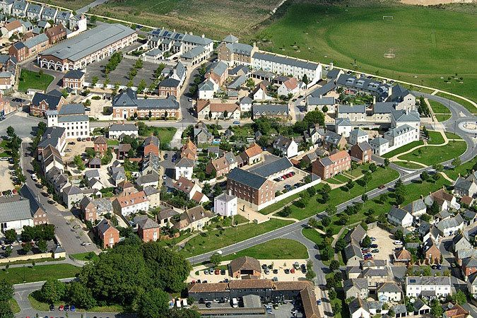 Aerial view of Poundbury.