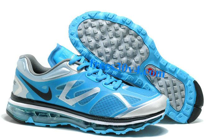 Blue Silver Black Nike Air Max 2012 Men's Running Shoes #Blue #Womens # Sneakers
