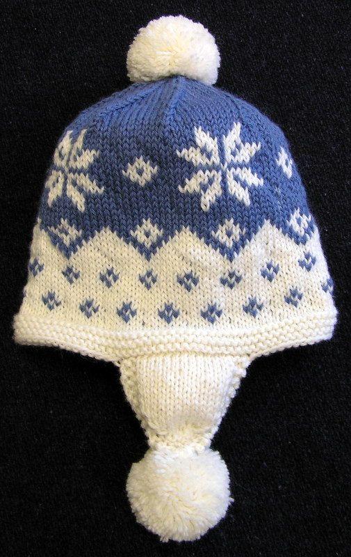 Facile à tricoter en cascade le motif flocon de par MNCustomWoolens