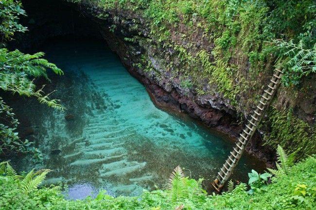 La fosse océanique de To Sua dans le village de Lotofaga sur Upolu, archipel des Samoa