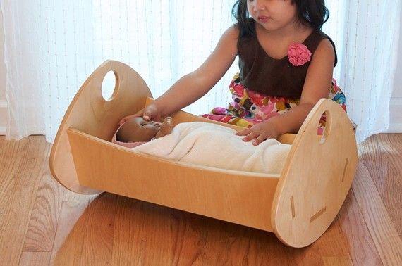 Modern Baby Doll Cradle