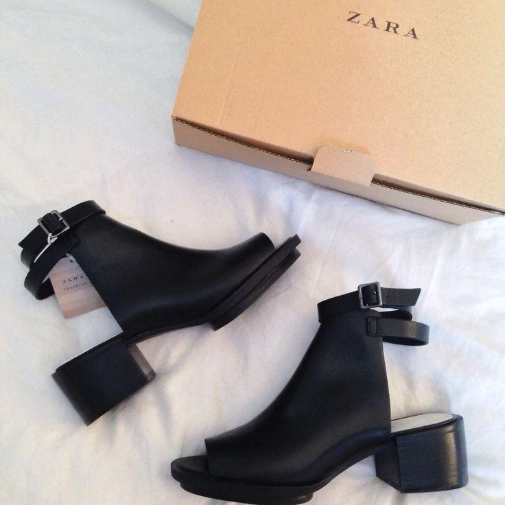 black | zara | heels | peep toe