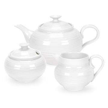 Sophie Conran 3-Piece White Tea Set. Product code: CPW76863.  Call 905·885·9250.