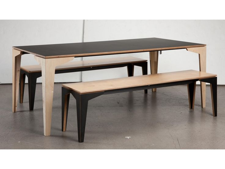 Dining Table Bench: Floating Dining Table. Plywood ...