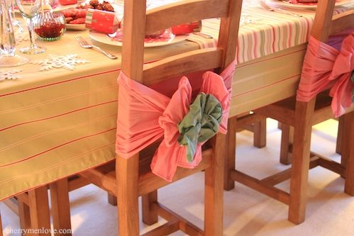 Chair back bows