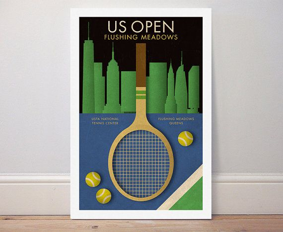 Cool US Open Tennis  Poster for every tennis player!