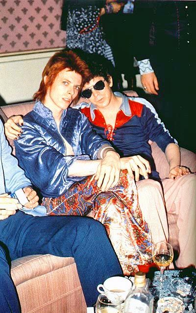 David Bowie and Lou Reed 1970s