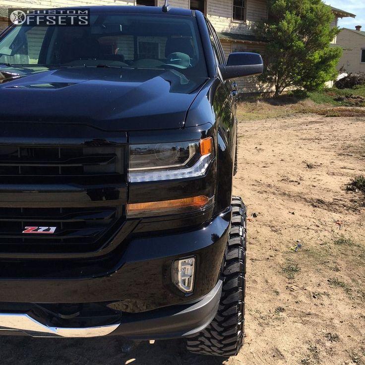 13 2016 Silverado 1500 Chevrolet Suspension Lift 6 Kmc Xd825 Black Aggressive 1 Outside Fender