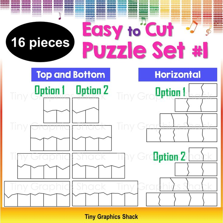 This set includes 16 blank puzzle templates for educators who love to create fun puzzles, games, and activities for their students/children. The simple zigzag lines should save you time as they are easier to cut. You can create educational resources with these crisp high quality images.