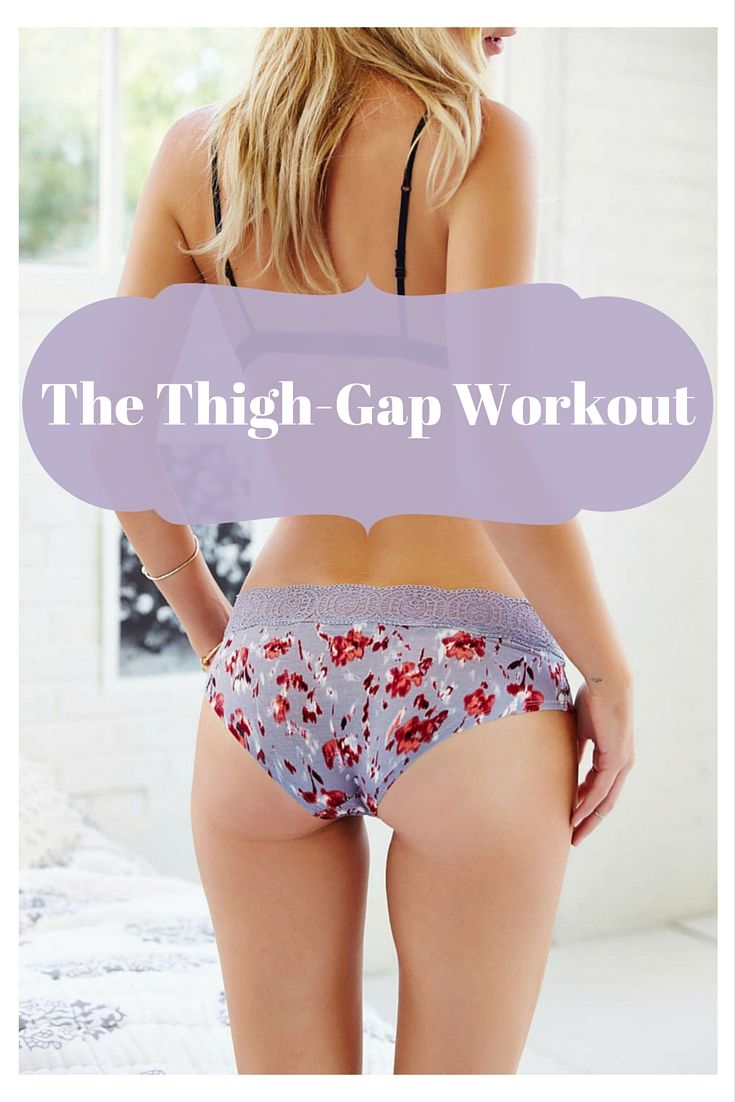 5 exercises to eliminate the hard-to-lose fat between your thighs. Pinning for toning of the inner thigh not to achieve a thigh-gap.