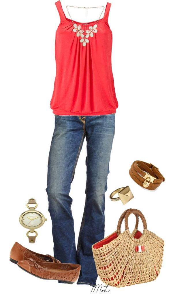 love it all! especially the color and cut of the top. and paired with the perfect jeans and flats